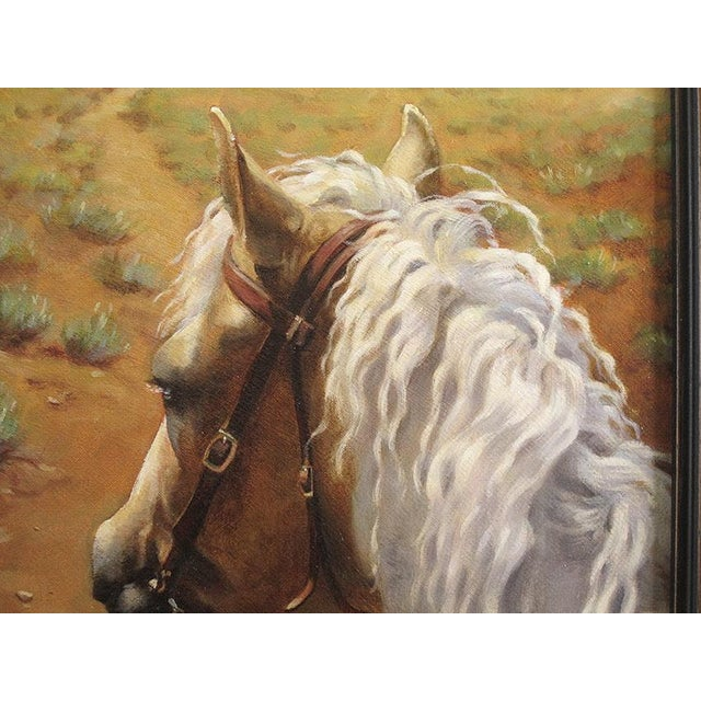"""Ute Simon """"Desert Trail"""" Horse Painting - Image 3 of 7"""