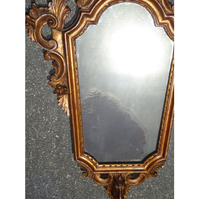 Antique Italian Rococo Giltwood Wall Mirror - Image 8 of 11