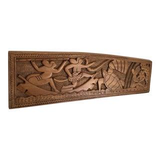 Polynesian Folk Art Carved Wood Storyboard