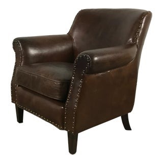 Pinned Leather Club Chair