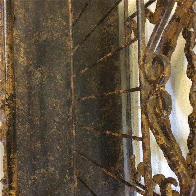 Ornate Lyre Iron Magazine Rack - Image 7 of 9