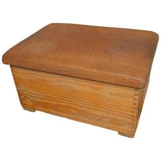 Vintage German Gymnast Leather Top Bench