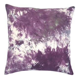 Marbled Design Hand Dyed Purple Throw Pillow Cover