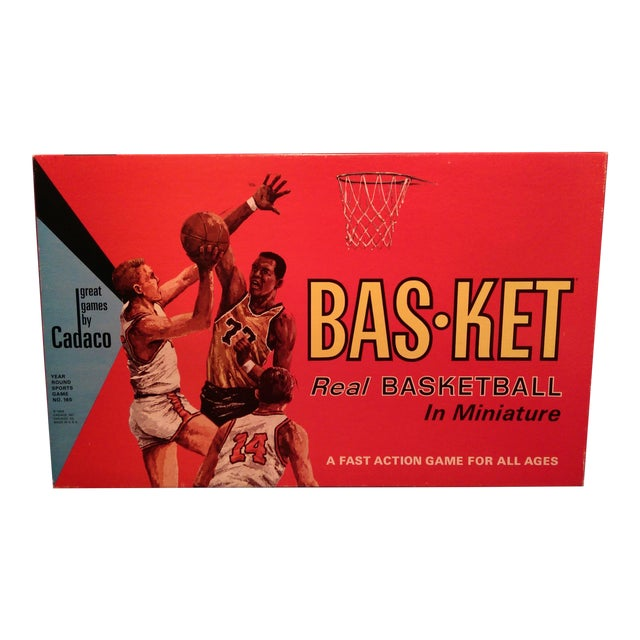 1966 Cadaco Bas-Ket Basketball Board Game - Image 1 of 11