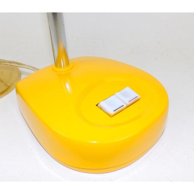 Antique Marigold Yellow Goose Neck Tanker Desk Lamp - Image 6 of 7