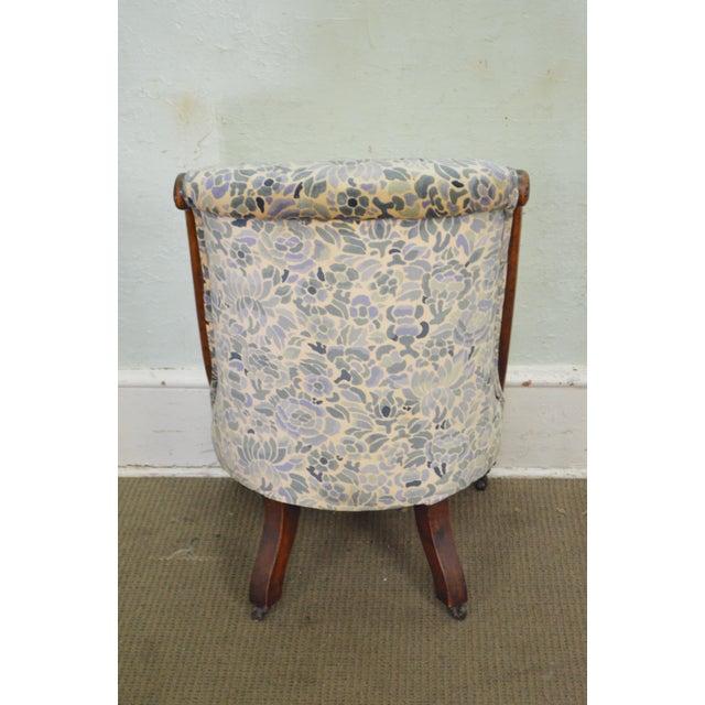 Antique Victorian Walnut Frame Slipper Chair - Image 4 of 11