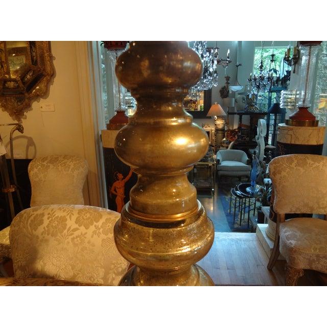Hollywood Regency Mercury Glass Table Lamp - Image 4 of 7