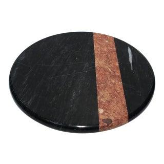Vintage Georges Briaid Black Marble Lazy Susan