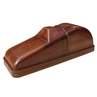 A Charming American Art Deco Solid Mahogany Car Mold