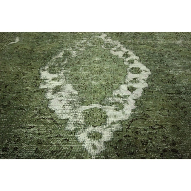 Traditional Green Overdyed Area Rug - 8' x 11' - Image 8 of 10
