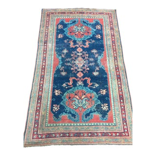 "Antique Anatolian Turkish Rug - 4'10"" X 8'"