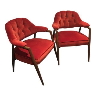 Monteverdi-Young Club Chairs - A Pair