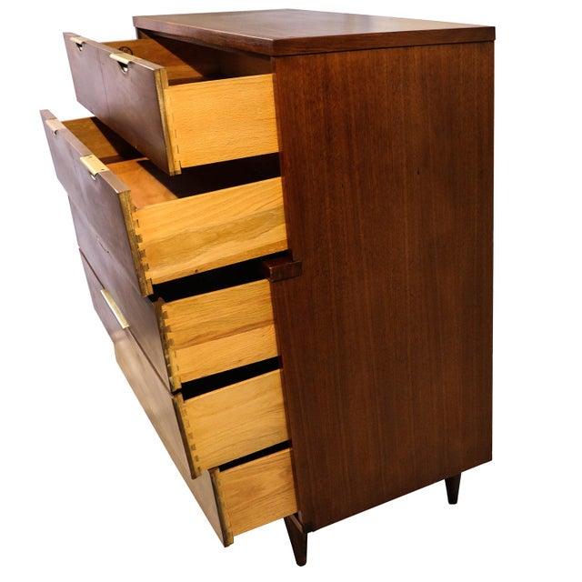 Mid century Kent Coffey Walnut Tall Dresser - Image 5 of 10