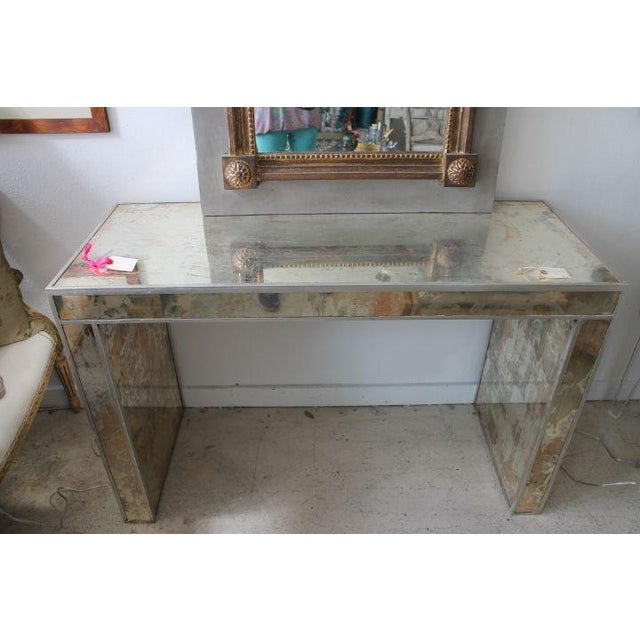 Antiqued & Mirrored Console Table - Image 3 of 9