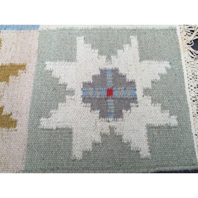 Wool Indian Dhurrie Rug - 5' x 8' - Image 8 of 9