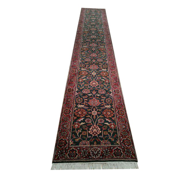 Traditional 16 Ft. Hand Made Knotted Runner Rug - 2′7″ × 16′4″ - Image 1 of 3