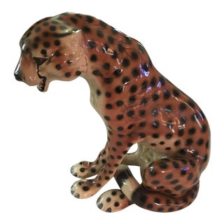 Decorative Ceramic Cheetah Figure