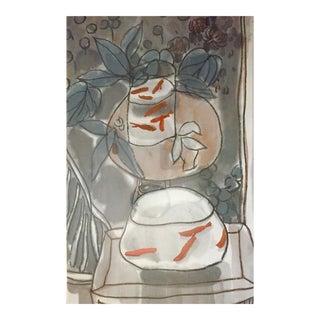 Goldfish Chinese Ink Painting