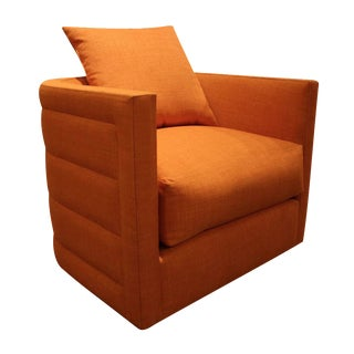 Nathan Anthony Orange Swivel Chair