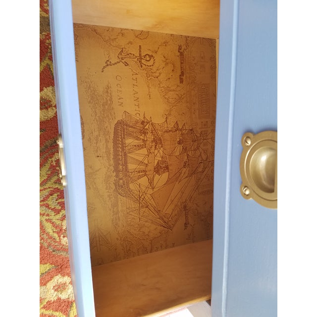 Handpainted Light Blue Nightstands - a Pair - Image 2 of 6