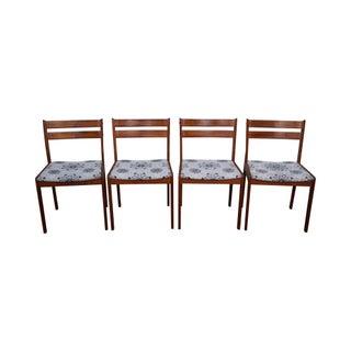 Uldum Mobelfabrik Teak Danish Modern Dining Chairs - Set of 4