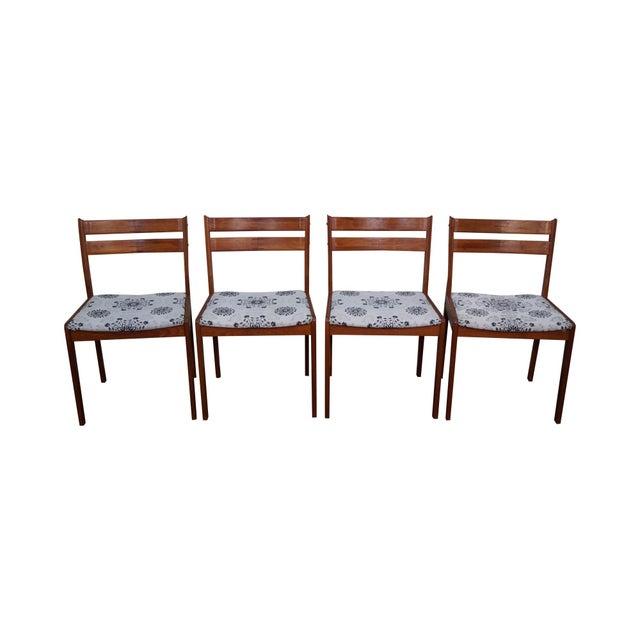 Uldum mobelfabrik teak danish modern dining chairs set for Modern dining chairs ireland
