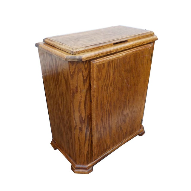 Vintage victorian wood laundry hamper chairish - Wooden hampers for laundry ...