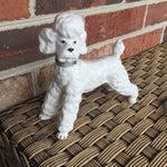 Image of Vintage Ceramic Staffordshire Style Poodle Figurine