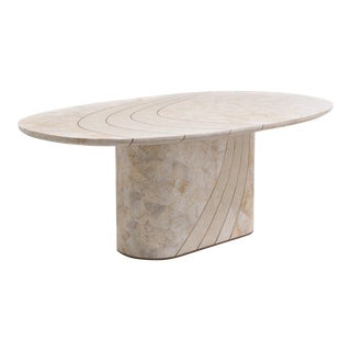 A Maitland Smith Tessellated Stone Veneered Dining Table 1980s