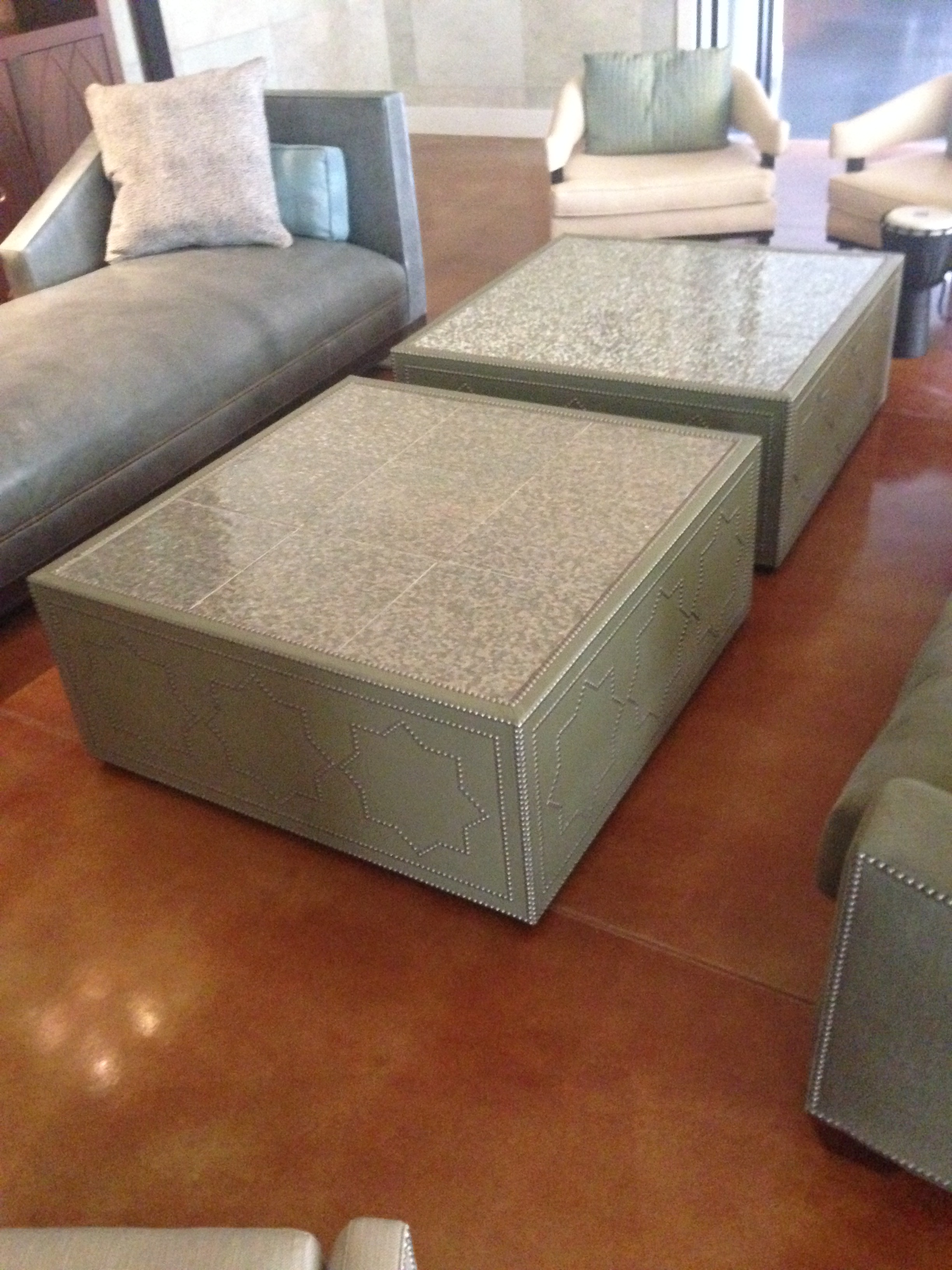 Frank Roop Designed Leather U0026 Mother Of Pearl Coffee Table   Image 2 ...