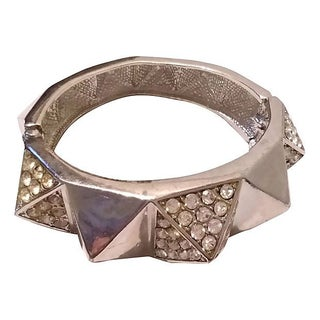 Crystal Spike Clamper Bracelet