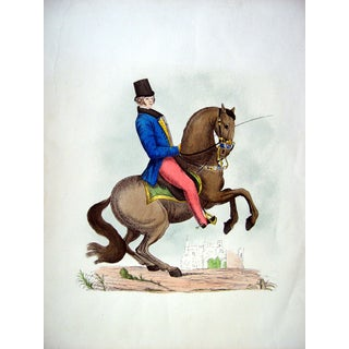 Equestrian Dressage Lithographic Portrait