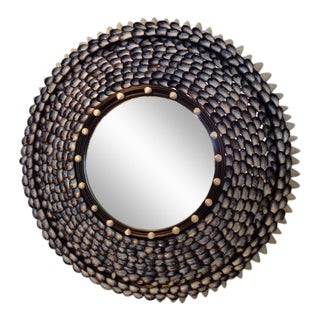 Mussel Beach Coquillage Round Mirror