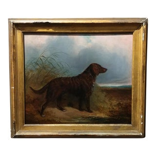1853 Charles Bilger Spalding Irish Setter Original Oil Painting