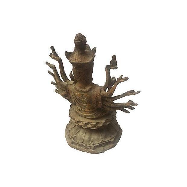 Cast Iron Statue of the Goddess Durga - Image 6 of 6