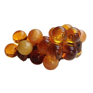 Mid-Century Yellow & Amber Lucite Grapes