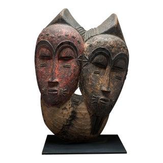 Baule Bicephalous Wooden Mask