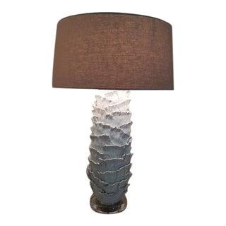 Designer Ceramic & Lucite Lamp