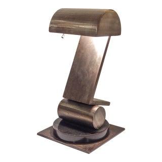 Sculptural Steel Desk Lamp