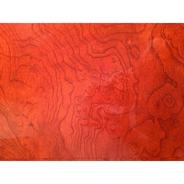 Hollywood Regency Red Burled Drum Tables - Pair - Image 4 of 7
