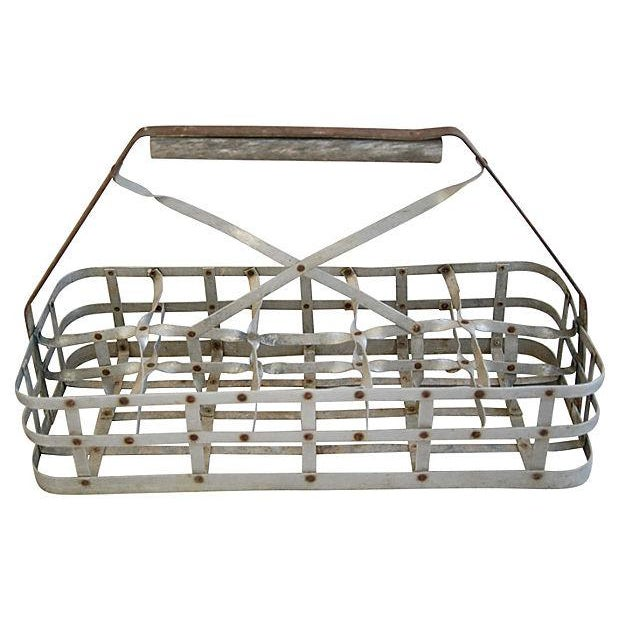 Antique French 10-Bottle Carrier - Image 2 of 5