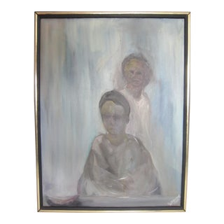 Signed Mid-Century Abstract Portrait
