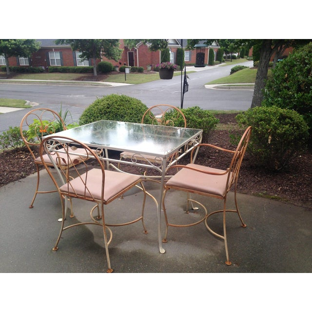 Vintage Wrought Iron Patio Set Chairish