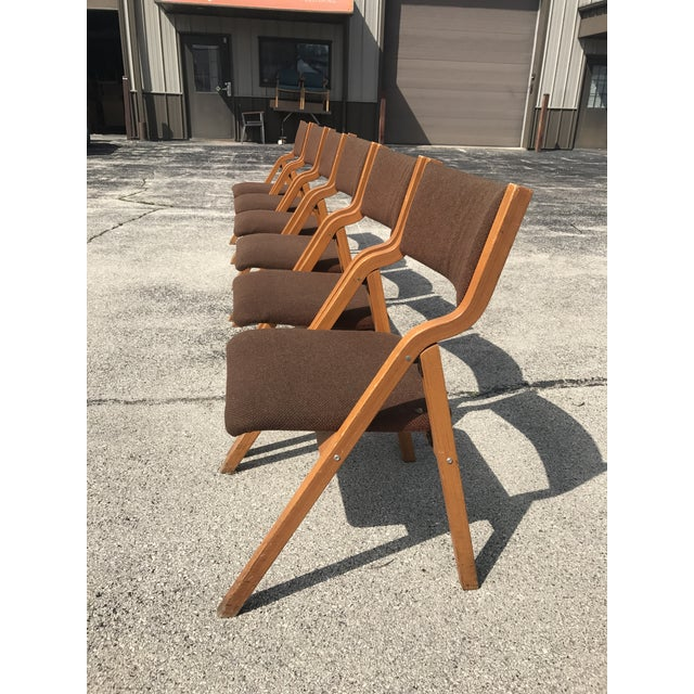 Mid-Century Modern Folding Chairs - Set of 6 - Image 5 of 8