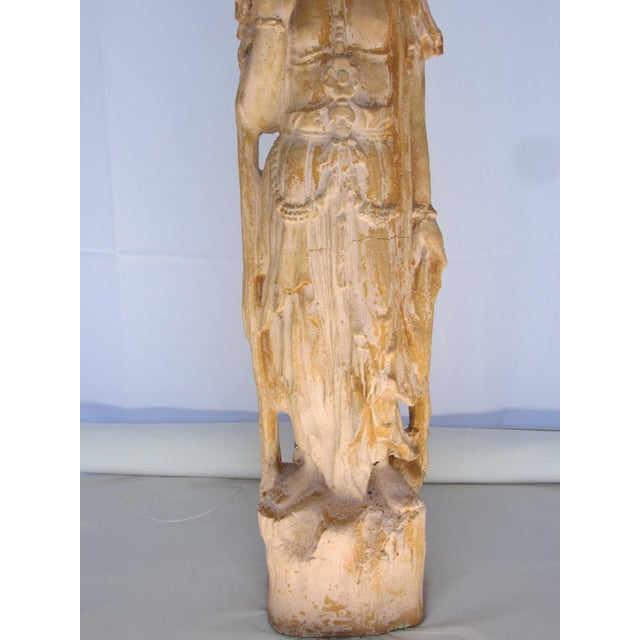 Tall Vintage Quan Yin Garden Sculpture - Image 7 of 8