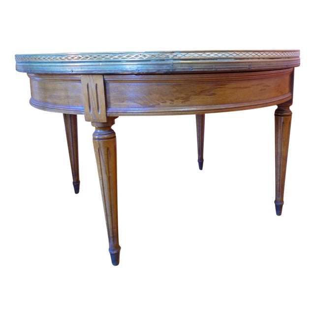 Stellar White Marble Coffee Table: Vintage Marble Top Coffee Table
