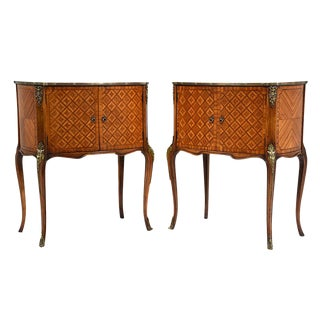 French Louis XVI-Style Commodes - A Pair