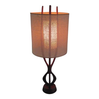 Pearsall Walnut Lamp With Original Shade