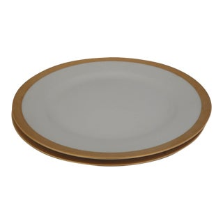 Elegant Gold Rim Dinner Plates S/2