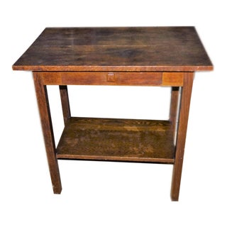 19th Century Walnut Single Drawer Side Table